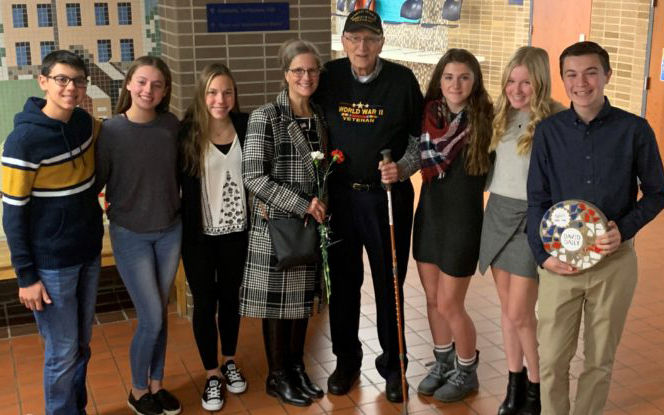 Clarkston Junior High Honors Local World War II Veteran