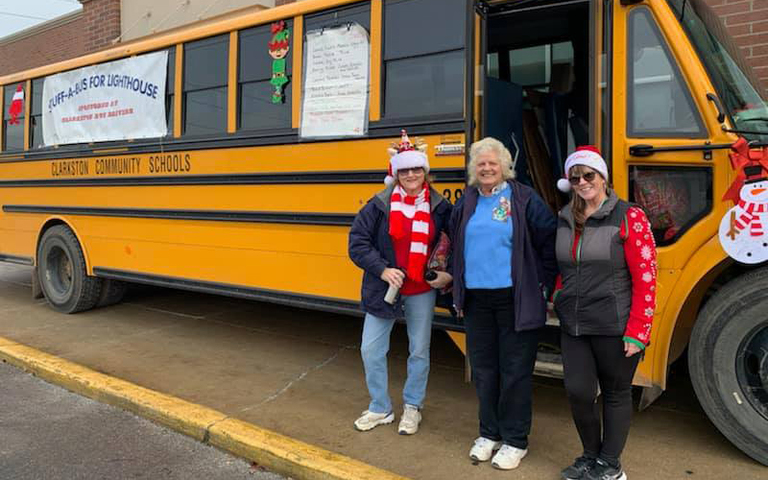 Clarkston Transportation Stuff-A-Bus a Success
