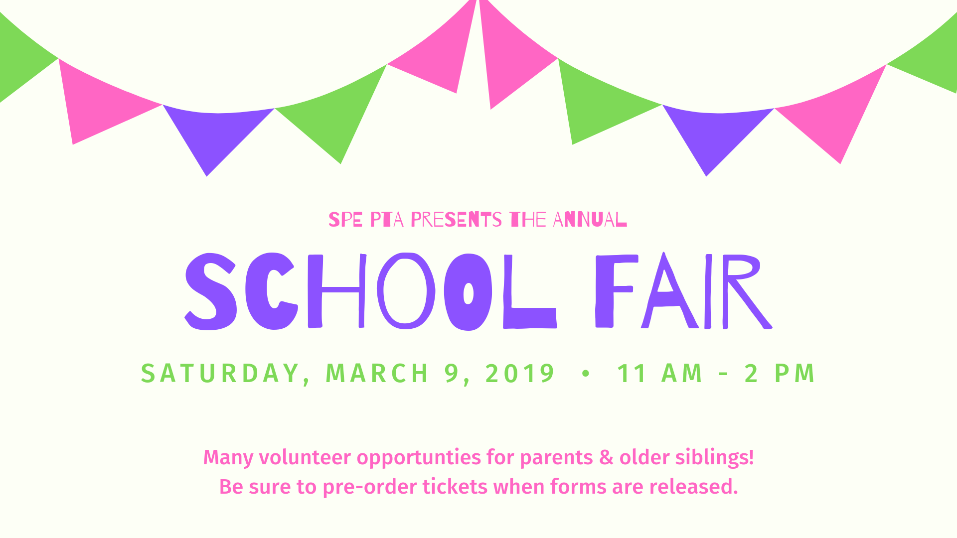 Volunteer for School Fair